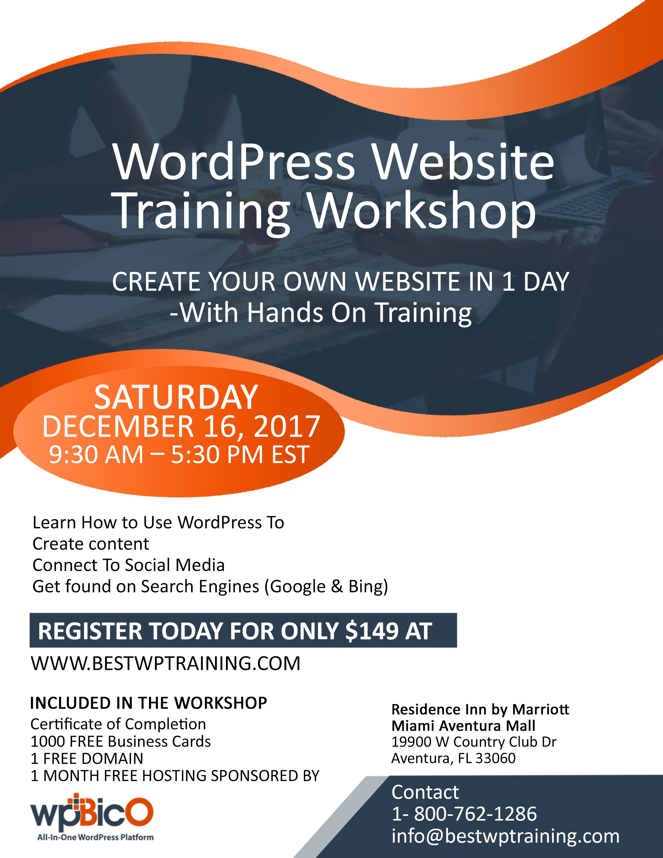 Refresh miami create your own website in 1 day with hands on training create your own website in 1 day with hands on training reheart Images