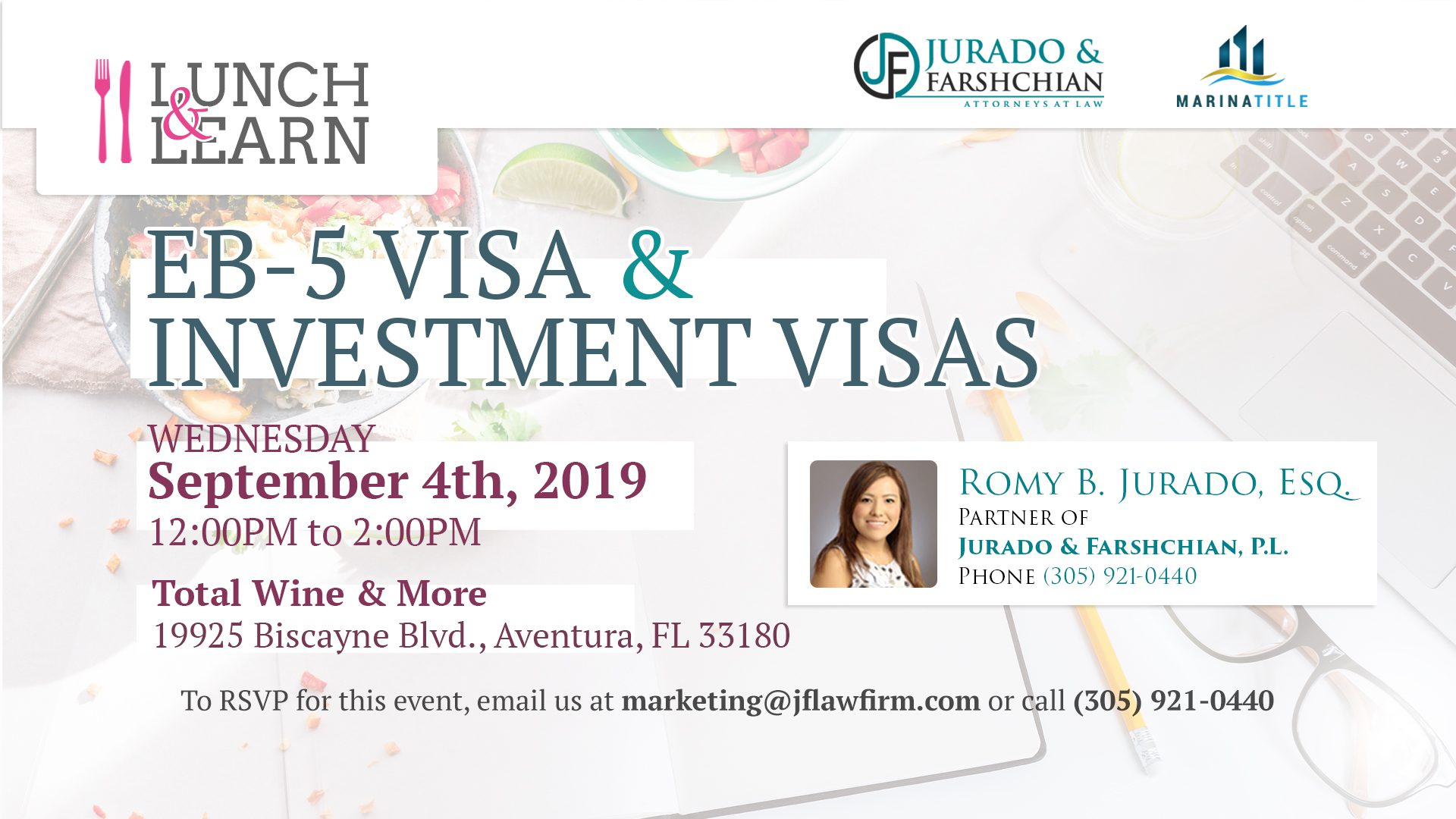 Lunch & Learn - EB-5 Visa and Investment Visas - Refresh
